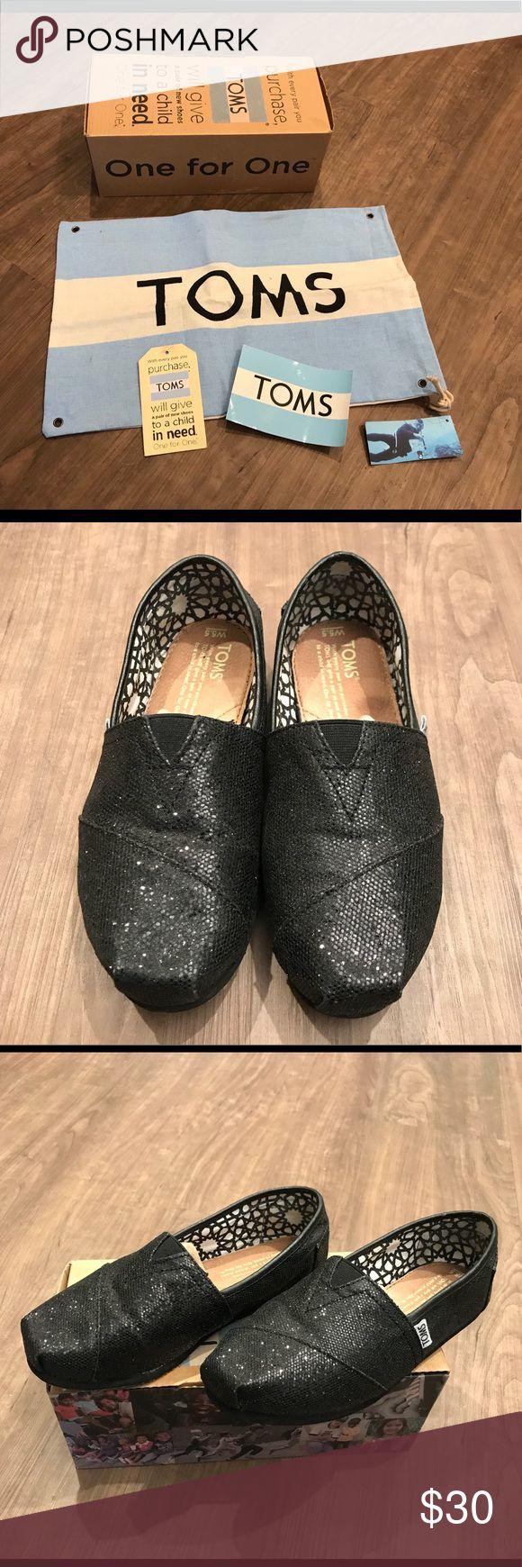 Tom's classic black glitter Tom's classic black glitter Toms Shoes Flats & Loafers