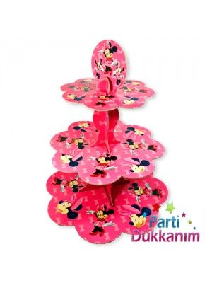 Minnie Mouse  3 Katlı Kek Standı Pembe