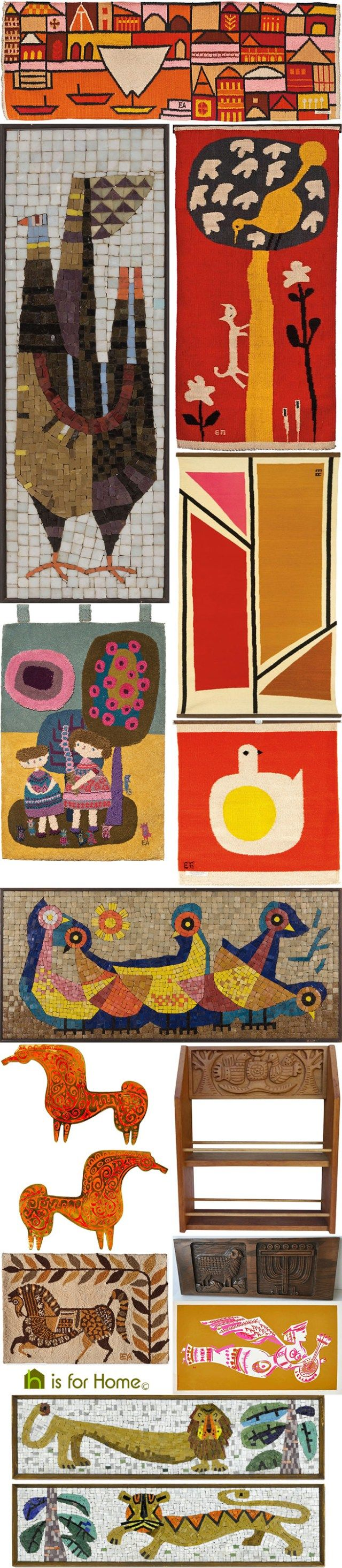 Mosaic of Evelyn Ackerman artworks | H is for Home