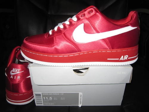 nike air force 1 07 valentine edition all red shoes