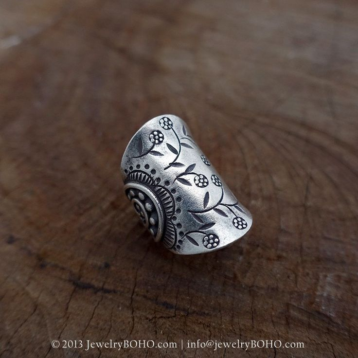 BOHO 925 Silver Ring-Gypsy Hippie RingBohemian by jewelryboho4u