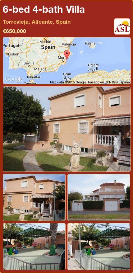 6-bed 4-bath Villa in Torrevieja, Alicante, Spain ►€650,000 #PropertyForSaleInSpain