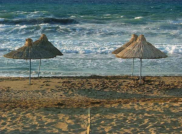 Anissaras beach in Heraklion, Crete island ~ Greece