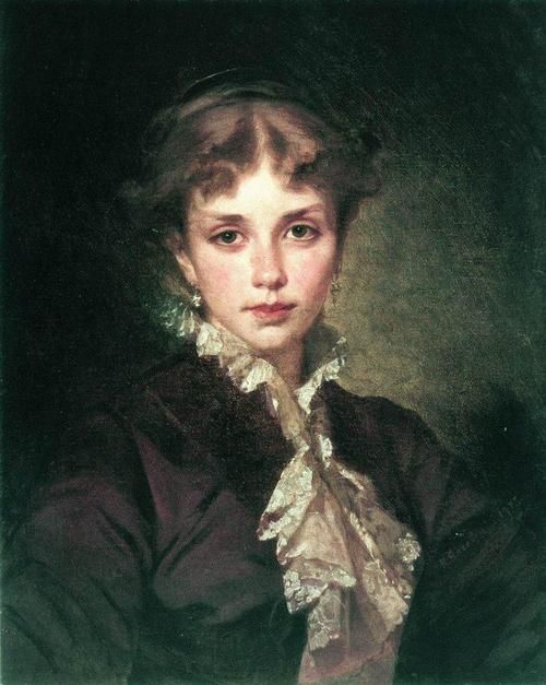 Female Portrait,Konstantin Makovsky(1878)