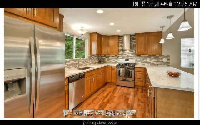 Honey Oak Cabinets With Brushed Nickel Hardware Nice