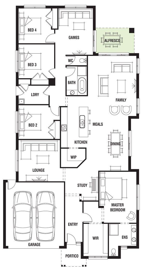 17 best future floor plan options images on pinterest floor house design dakar porter davis homes malvernweather Images