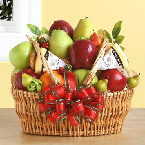 Organic Fresh Fruit Gift Basket