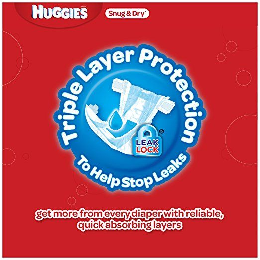 HUGGIES Snug & Dry Diapers, Size 4, for 22-37 lbs., One Month Supply (192 Count) of Baby Diapers, Packaging May Vary: Health & Personal Care