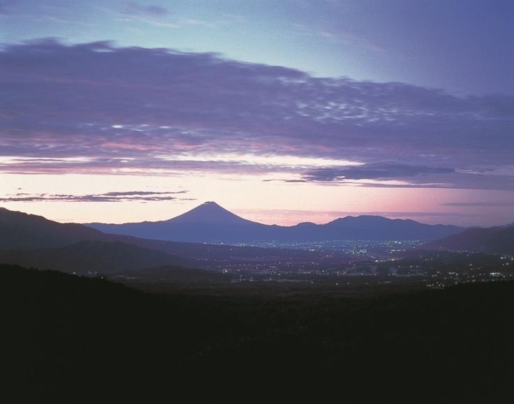 夕焼けの八ヶ岳。