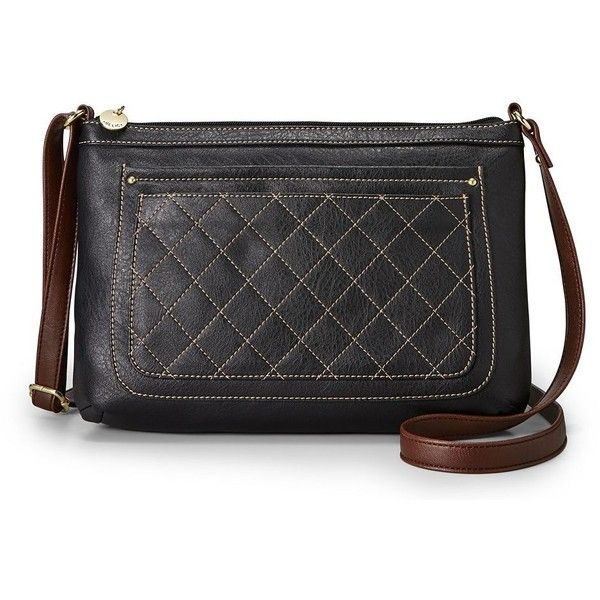Relic Berkley Crossbody Bag (Black) (40 AUD) ❤ liked on Polyvore featuring bags, handbags, shoulder bags, black, relic purses, quilted faux leather crossbody, black quilted crossbody, crossbody purse and black crossbody purse