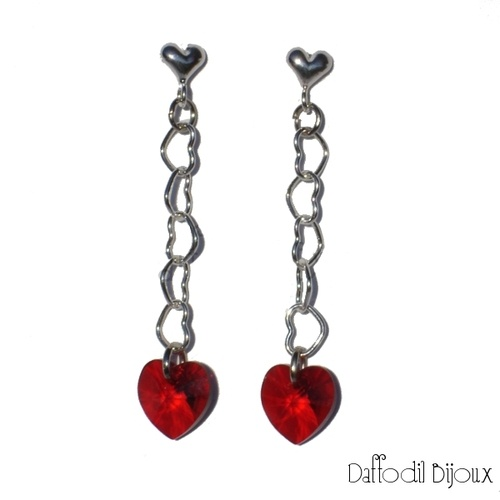 Orecchini Red Love Handmade by Daffodil Bijoux