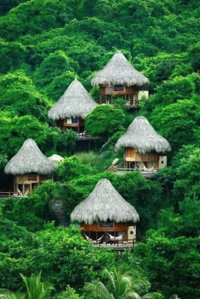 Ecohabs at the Santa Marta hotel, Tayrona National Park, Columbia