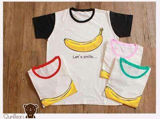 ssfashionkaos: Kaos Big Combi Banana Smile