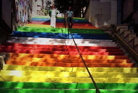 stairs revolution in Turkey