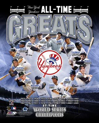 Yankee Greats | New York Yankees ALL-TIME GREATS 14 Legends 27 World Series Premium ...