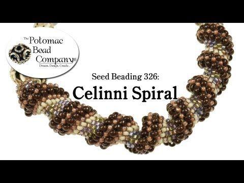 Best Seed Bead Jewelry  2017  Celinni Spiral Stitch (Introduction)
