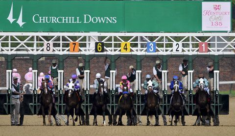 Churchill Downs announced on June 14, 2012 that it had abandoned the graded stakes earnings criterion it had used since 1986 to determine which 20 horses get in to the starting gate for the Kentucky Derby and replaced it with a point system based on 36 stakes races.