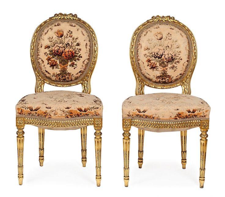Sillas luis xvi segunda mano top butaca y silla luis xvi antigedades muebles antiguos sillones - Sillas estilo luis xvi ...