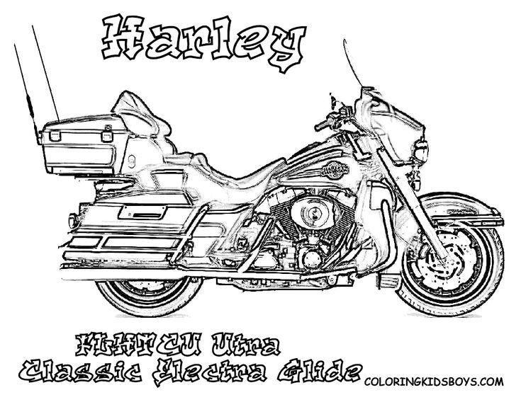 Harley 12 T FLHTCU Utra Classic Electra Glide Coloring PagesColoring BooksHarley DavidsonPages