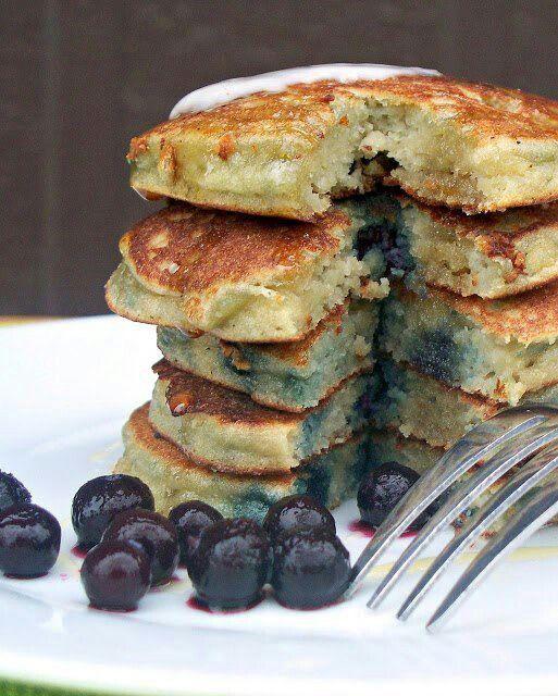 Almond flour blueberry pancakes