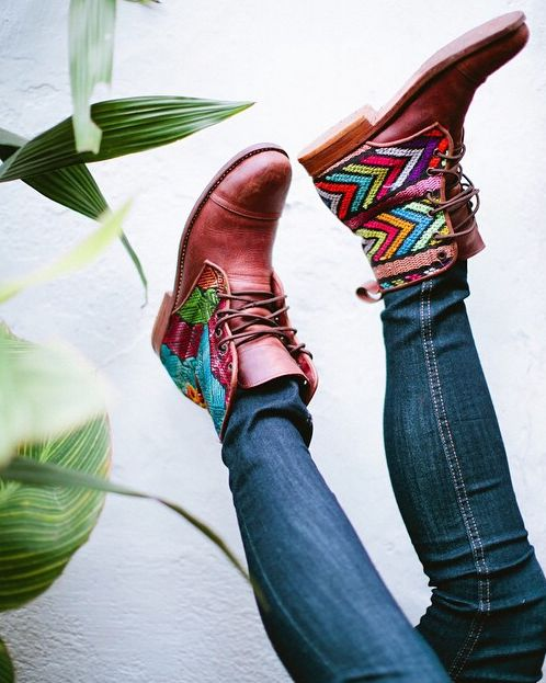 Happy feet! Teysha Handmade Custom Boots // Leather and Textiles, All Crafted in…