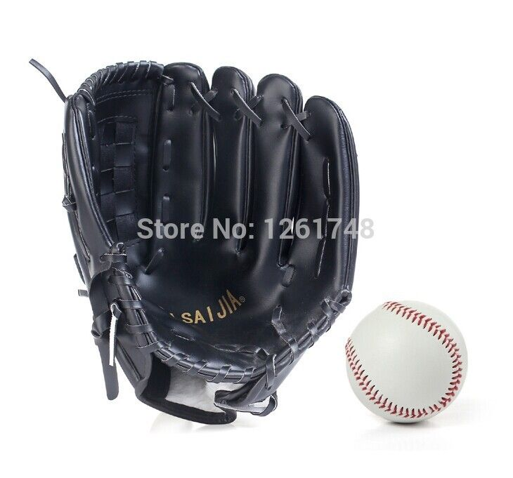 Material de PVC libre enviar béisbol 10.5 '' 11.5 '' 12.5 ' hijos adultos lanzador de softbol guante de béisbol guantes