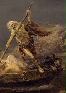 Se reconocía en el arte a Caronte, como un alma en penitencia
