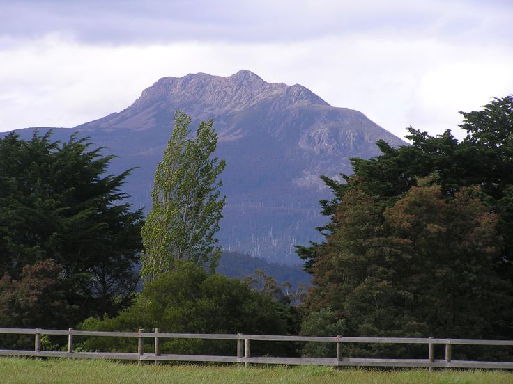 Sleeping Beauty mountain, near Huonville South Tasmania