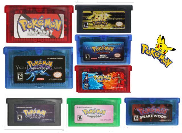 Pokemon Rom Hack GBA games US version [Reprodcution Cartridges] | eBay
