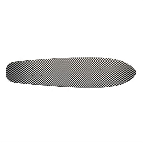 Classic black and white check patterned cool skate board. #black-and-white #check #checked #squares #square-shapes #black #white #chefs-check-pattern #mono #classic #patterned #pattern #cool