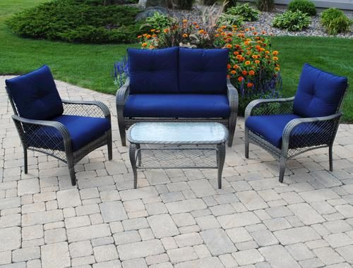 backyard creations 4 piece aspen seating collection at menards for