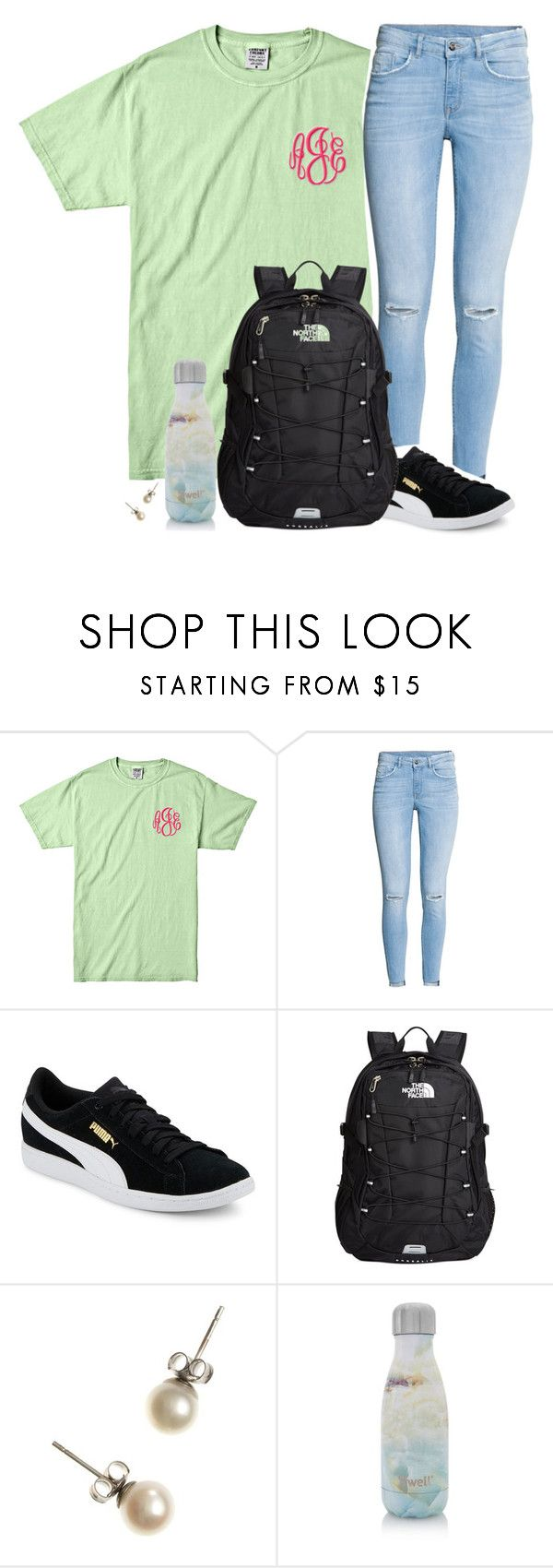 """Medical Camp Day 1"" by xomadibbyyy ❤ liked on Polyvore featuring H&M, Puma, The North Face, J.Crew and S'well"