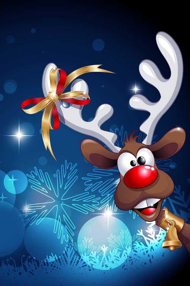 Cute Reindeer Wallpaper - WallpaperSafari