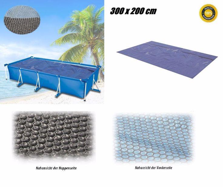 Solarplane Pool Wärmeplane 300x200cm für Poolheizung Solarfolie Solarheizung Neu