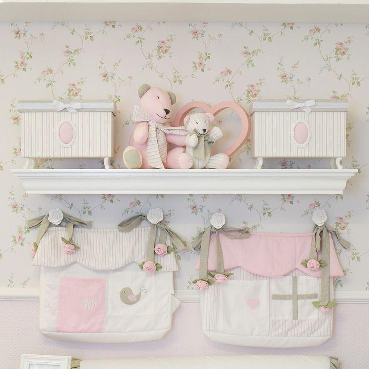 Prateleira para quarto de bebê nobile branca