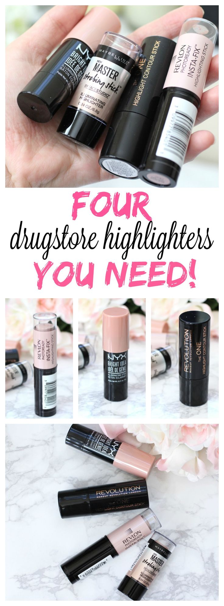 Four drugstore highlighters you NEED in your life!