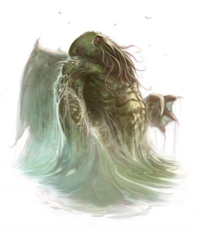 Cthulhu: Design Inspiration, Stars Spawn, Lovecraftian Bestiari, Cthulhu Art, Von Cthulhu, Cthulhu Mythos, Illustrations Artworks, Cthulhu Tattoo Art, Horror Artworks