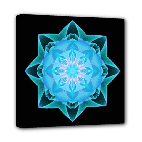 Canvast print fractal Stardust lightblue - also for sale on www.etsy.com/shop/droomcreaties