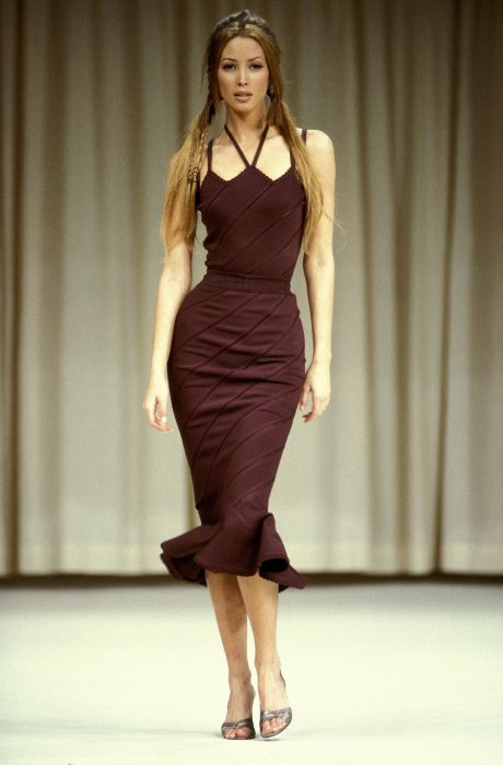 Christy for Azzedine Alaia. Obsessed with the dress! | I ...
