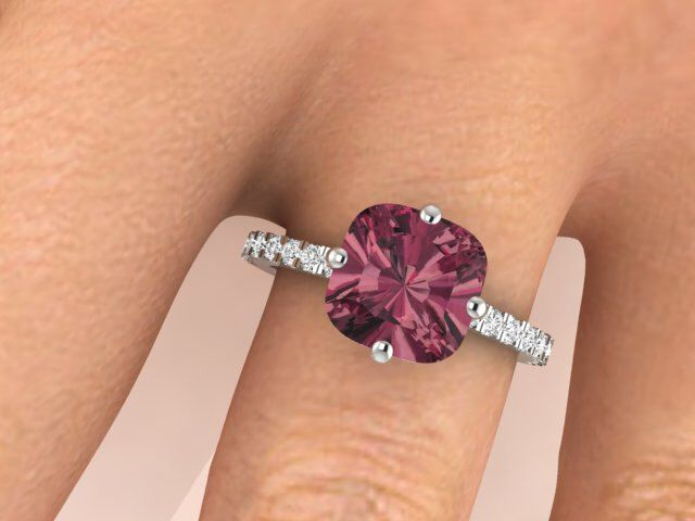 Engagement ring, Modern Wedding rings, Unique ring, Her dream ring, Garnet ring, Modern Solitaire rings, Promise ring, Anniversary gift by BridalRings on Etsy https://www.etsy.com/listing/242581639/engagement-ring-modern-wedding-rings