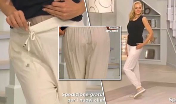 WATCH: QVC model is left red-faced after CHEEKY fashion blunder live on air