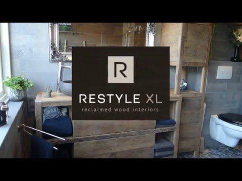 Badkamermeubel hout   RestyleXL op maat gemaakte badkamermeubels
