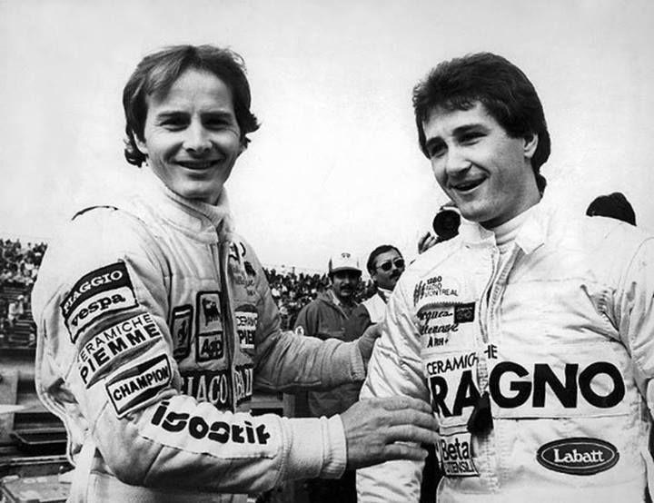 F1 Montréal 1981 - Gilles with his brother Jacques Villeneuve.