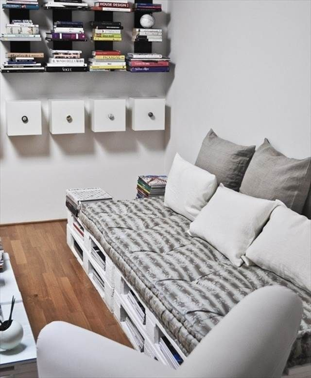 DIY pallet couch is great idea to be used in interior and outer side of home.  Pallet couch are easy to make and the person with some basic skills can ...