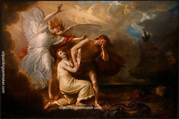 The Expulsion of Adam and Eve from Paradise, 1791