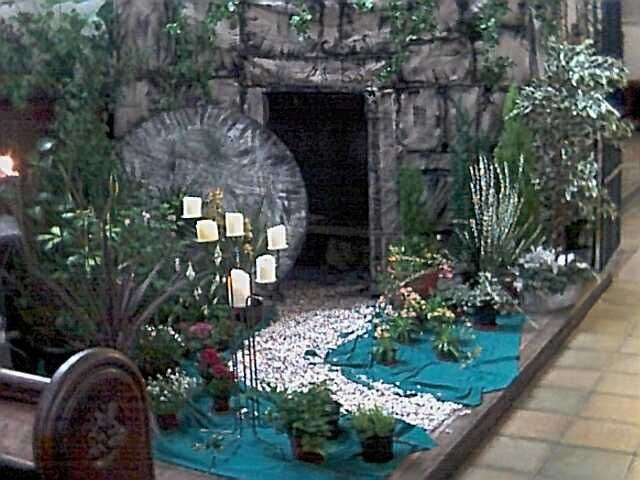 Easter Garden In All Saints Cathedral Derby England Find This Pin And More On Inspiring Ideas Church Decor