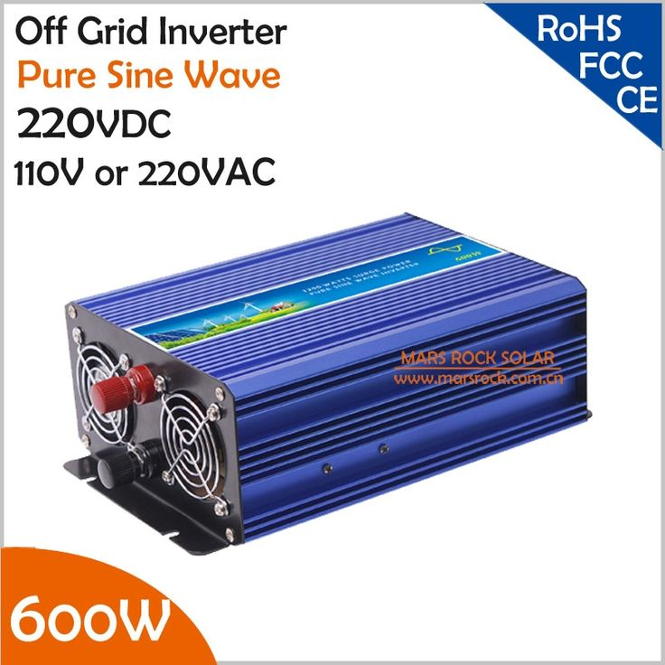 109.08$  Watch now - http://alim9r.worldwells.pw/go.php?t=779215319 - 600W 220V DC to AC Off Grid Inverter, Pure Sine Wave Inverter for Solar or Wind Power System, Surge Power 1200W Power Inverter 109.08$