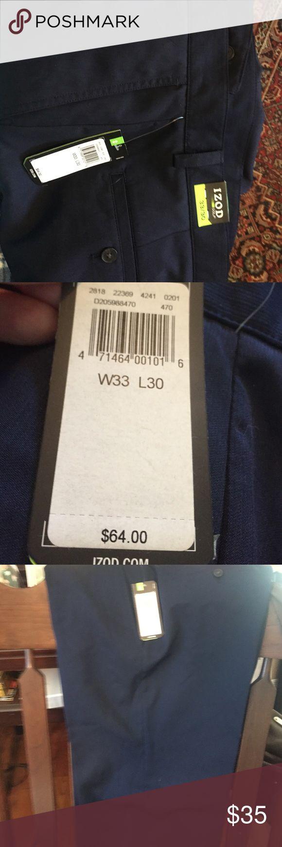 Men's 33x30 izod slacks.NET Men's 33x 30 Izod golf slacks, NWT, 100% polyester Izod Pants Dress