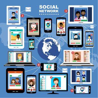 Die meerderheid volwassenes wat aktief is op die Internet het verskillende sosiale media profiele, wat inskakel by die kenmerke van elke afsonderlike medium.