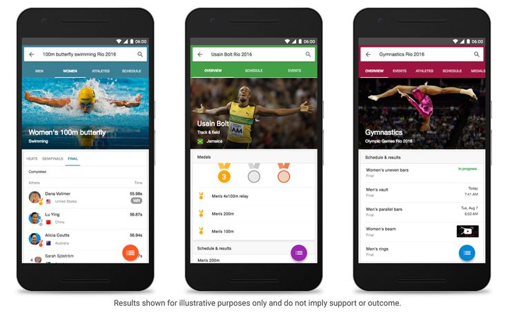Google announces new features to help you stay up-to-date on the Rio Olympics